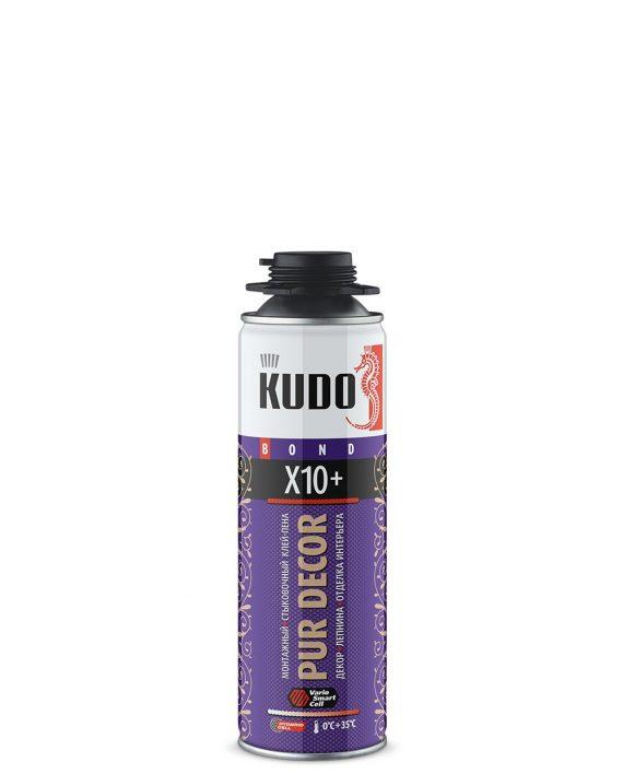 Клей-пена монтажный истыковочный профессиональный PUR DECOR X10+