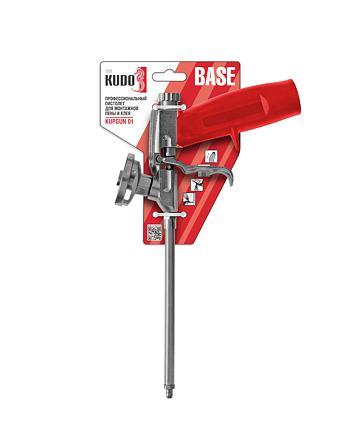 Профессиональный пистолет для монтажной пены и клея KUDO BASE KUPGUN01N