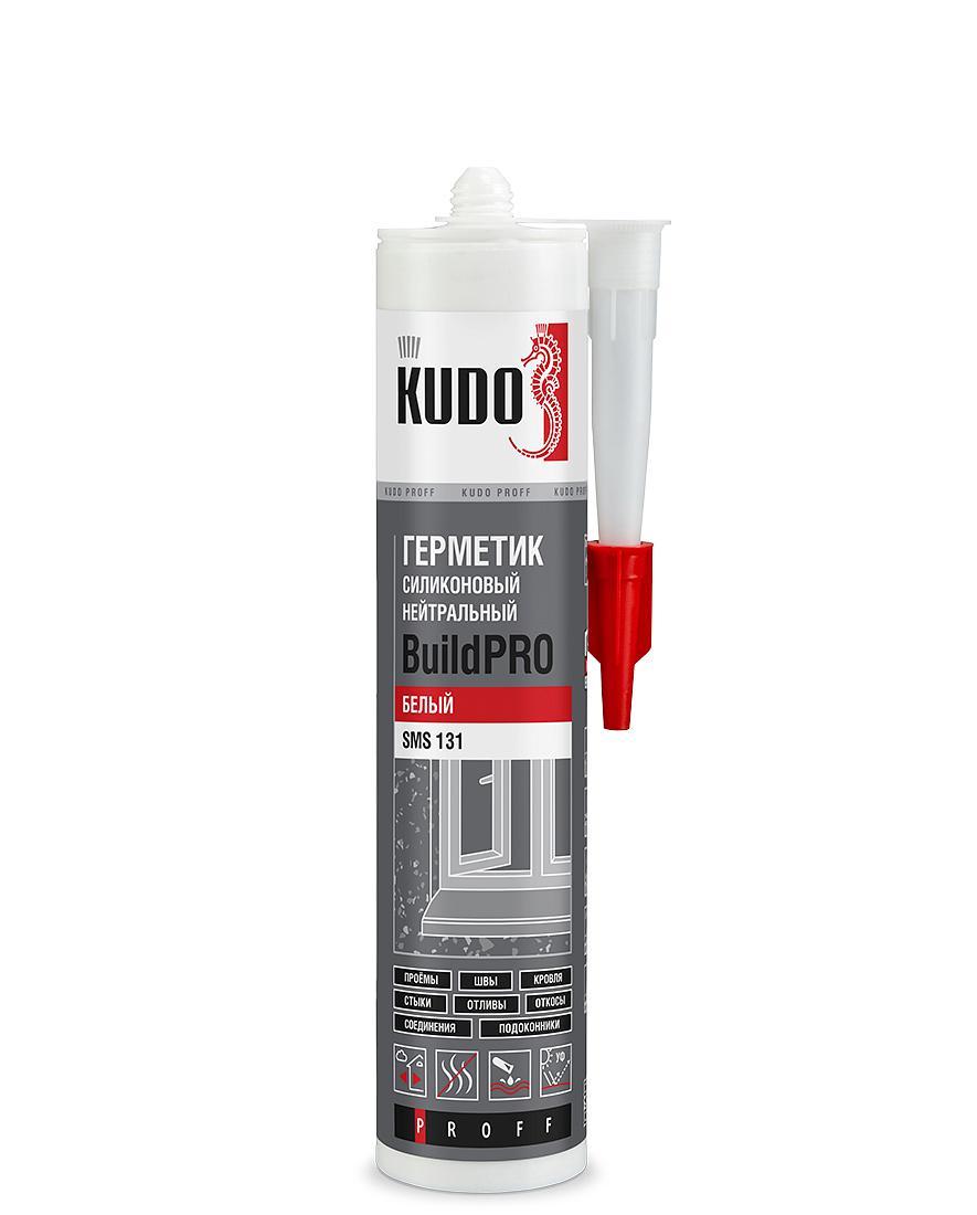 Герметик силиконовый нейтральный KUDO PROFF BUILDPRO SMS-131