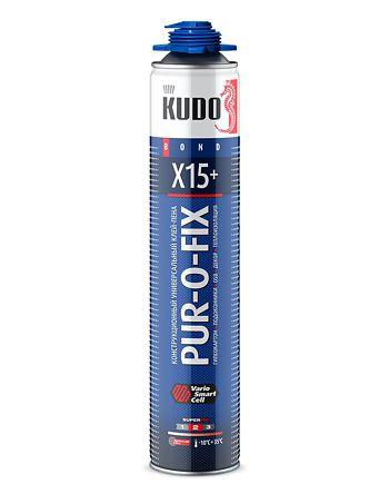 Клей-пена универсальный конструкционный профессиональный всесезонный PUR-O-FIX X15+ SUPER FIX
